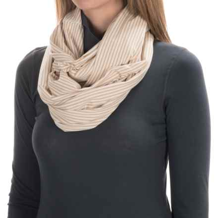 Carve Designs Cedars Infinity Scarf (For Women) in Latte Stripe - Closeouts