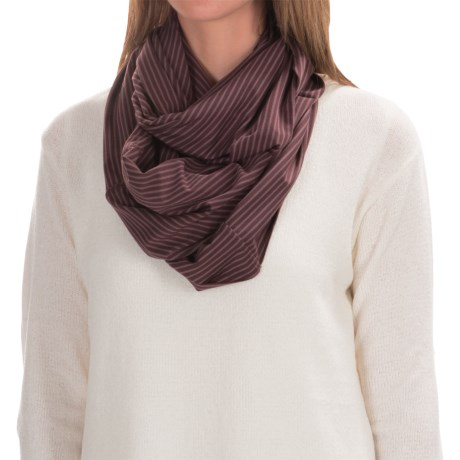 Carve Designs Cedars Infinity Scarf (For Women) in Spice Stripe
