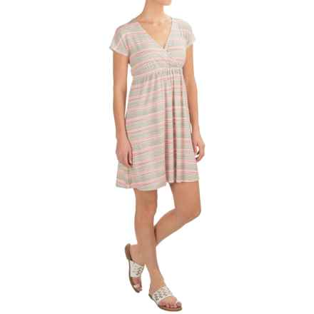 Carve Designs Coco Dress - Rayon, Short Sleeve (For Women) in Wave Stripe - Closeouts