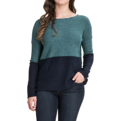 Carve Designs Color-Block Sweater (For Women) in Spruce