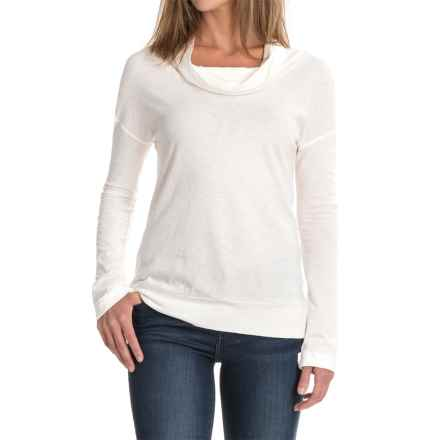 Carve Designs Cortez Shirt - Cowl Neck, Long Sleeve(For Women) in Birch - Closeouts