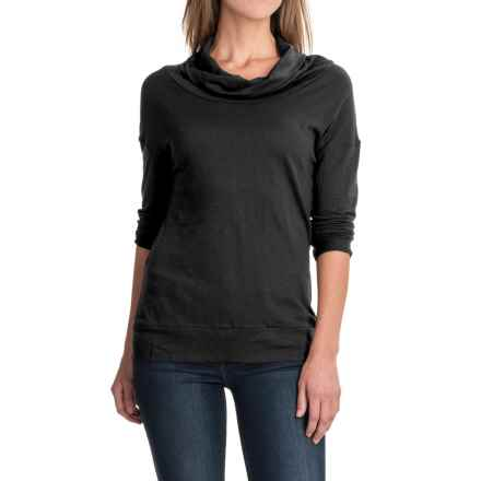 Carve Designs Cortez Shirt - Cowl Neck, Long Sleeve(For Women) in Black - Closeouts