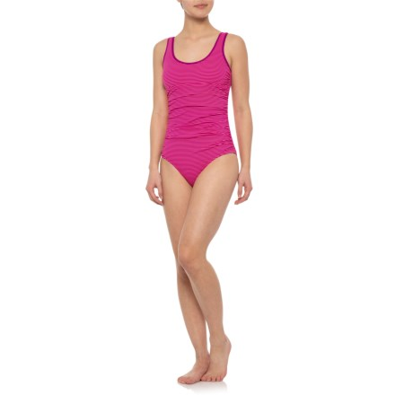 3f9bb7ba83 Carve Designs Davenport One-Piece Swimsuit - UPF 50 (For Women) in Hibiscus