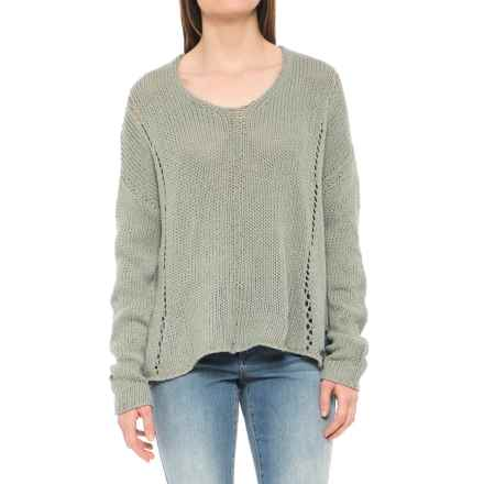 Carve Designs Destin Sweater (For Women) in Pale Reed - Closeouts