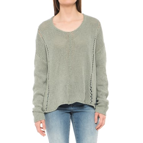 Carve Designs Destin Sweater (For Women) in Pale Reed
