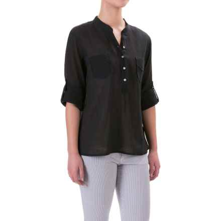 Carve Designs Dylan Gauze Shirt - Long Sleeve (For Women) in Black - Closeouts