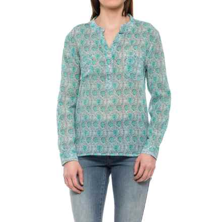 Carve Designs Dylan Gauze Shirt - Long Sleeve (For Women) in Blue Lagoon - Closeouts