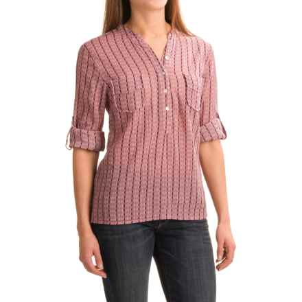 Carve Designs Dylan Gauze Shirt - Long Sleeve (For Women) in Rose Alpine - Closeouts