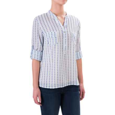 Carve Designs Dylan Gauze Shirt - Long Sleeve (For Women) in White Alpine - Closeouts