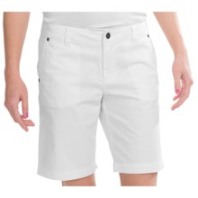 Carve Designs Frisco Bermuda Shorts - Cotton Chino (For Women) in White - Closeouts