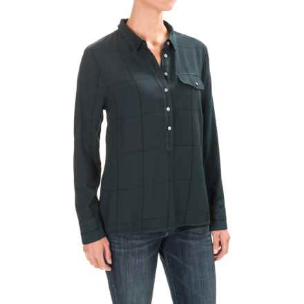 Carve Designs Hammond Popover Shirt - Long Sleeve (For Women) in Hunter Windowpane - Closeouts
