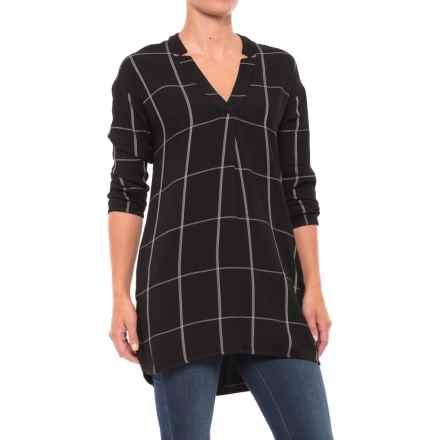 Carve Designs Hammond Tunic Shirt - Long Sleeve (For Women) in Black Windowpane - Closeouts