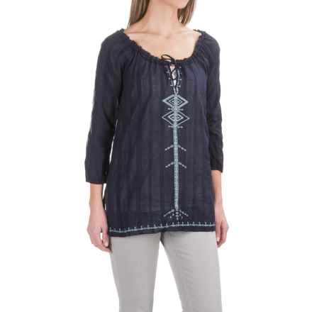 Carve Designs Harbour Tunic Shirt - Long Sleeve (For Women) in Anchor - Closeouts