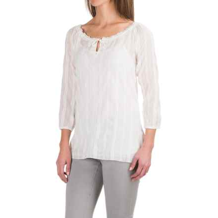Carve Designs Harbour Tunic Shirt - Long Sleeve (For Women) in White Sand - Closeouts