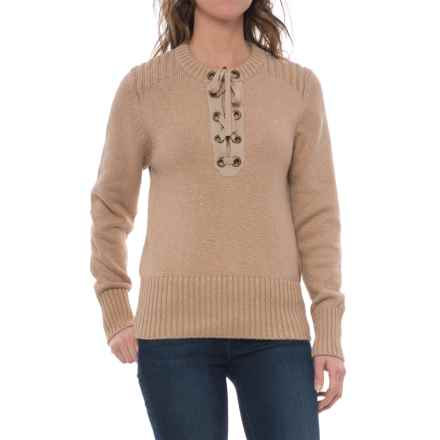 Carve Designs Harper Sweater (For Women) in Camel/Gold - Closeouts