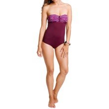 Carve Designs Isla One-Piece Swimsuit - UPF 50+ (For Women) in Plum Bali/Plum - Closeouts