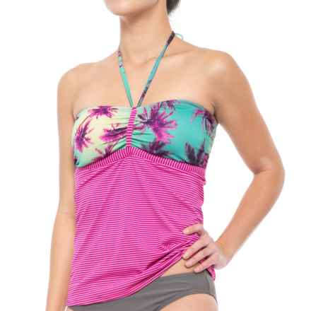 Carve Designs Isla Tankini Top - UPF 50 (For Women) in Palms/Hibiscus - Closeouts