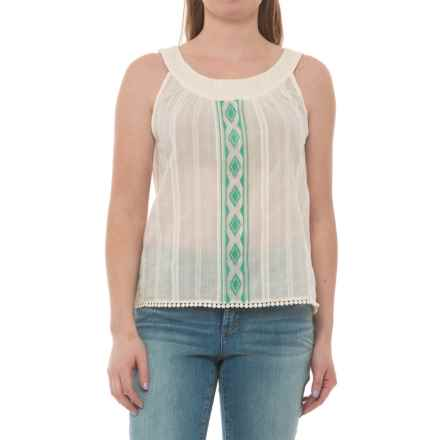 Carve Designs Island Voile Tank Top - Organic Cotton (For Women) in Ivory - Closeouts