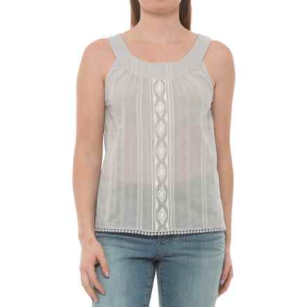 Carve Designs Island Voile Tank Top - Organic Cotton (For Women) in Light Grey Mist - Closeouts