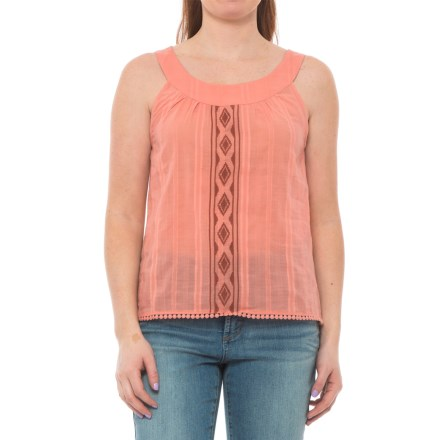d3205d40 Carve Designs Island Voile Tank Top - Organic Cotton (For Women) in  Terracotta -