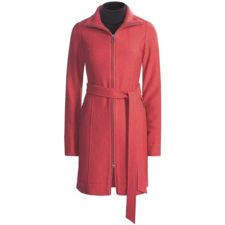 Carve Designs Jackson Long Coat - Boiled Wool (For Women) in Raspberry
