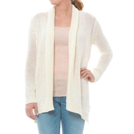 Carve Designs Keys Cardigan Sweater - Open Front (For Women) in Ivory