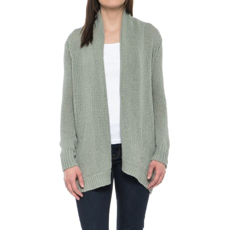 Carve Designs Keys Cardigan Sweater - Open Front (For Women) in Pale Reed