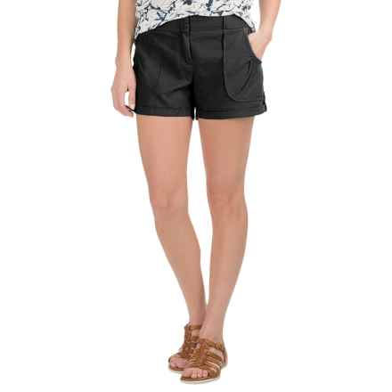 Carve Designs Lanakai Shorts - Linen-Rayon (For Women) in Black - Closeouts