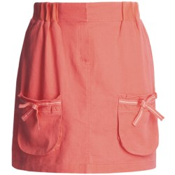 Carve Designs Lanikai Skirt - Washed Linen-Cotton (For Women) in Poppy