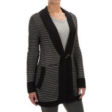 Carve Designs Laurel Cardigan Sweater (For Women) in Black Combo - Closeouts