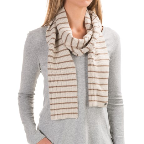 Carve Designs Lodge Rib-Knit Scarf (For Woman) in Mountain W/Desert Brown