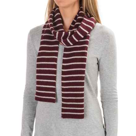 Carve Designs Lodge Rib-Knit Scarf (For Woman) in Mulberry W/ Mountain - Closeouts