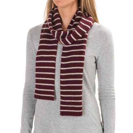 Carve Designs Lodge Rib-Knit Scarf (For Woman) in Mulberry W/ Mountain