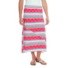 Carve Designs Long Beach Maxi Skirt - Organic Cotton (For Women) in Raspberry Tulum - Closeouts