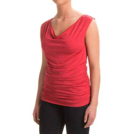 Carve Designs Makena Cowl Neck Tank Top (For Women) in Strawberry - Closeouts