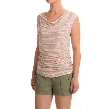Carve Designs Makena Cowl Neck Tank Top (For Women) in Wave Stripe - Closeouts