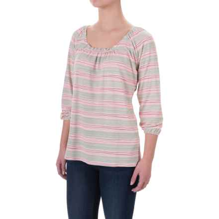 Carve Designs Makena Shirt - Rayon, Long Sleeve (For Women) in Wave Stripe - Closeouts
