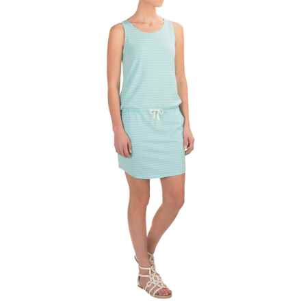 Carve Designs Meadow Dress - Organic Cotton-Rayon, Sleeveless (For Women) in Turquoise Stripe - Closeouts
