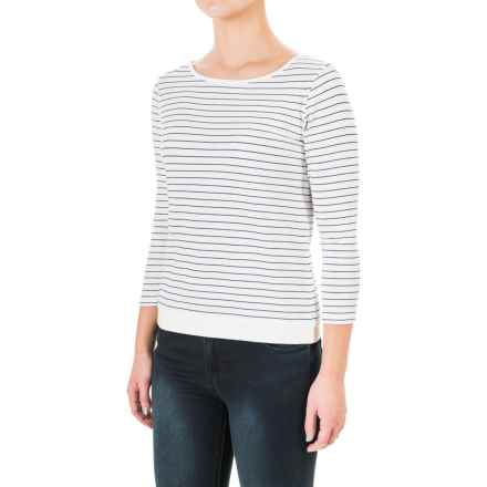 Carve Designs Meadow Shirt - Organic Cotton, Elbow Sleeve (For Women) in Regatta Stripe - Closeouts