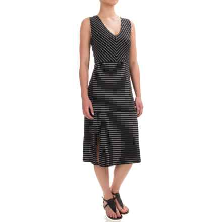 Carve Designs Montauk Dress - Organic Cotton-Rayon, Sleeveless (For Women) in Black Stripe - Closeouts