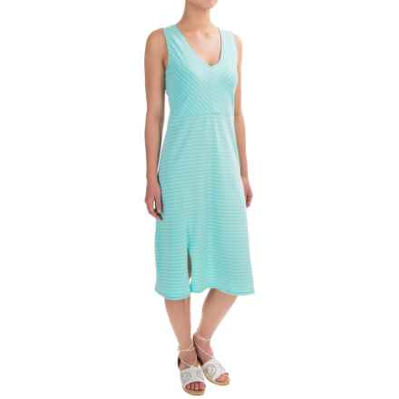 Carve Designs Montauk Dress - Organic Cotton, Sleeveless (For Women) in Turquoise Stripe - Closeouts