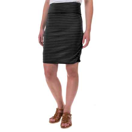 Carve Designs Montauk Skirt - Organic Cotton-Rayon (For Women) in Black Stripe - Closeouts