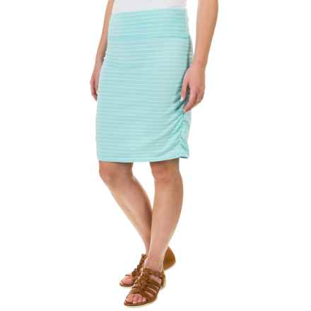 Carve Designs Montauk Skirt - Organic Cotton-Rayon (For Women) in Turquoise Stripe - Closeouts