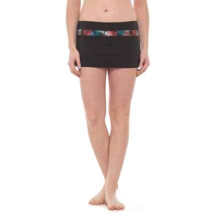 Carve Designs Mykanos Mini Skirt - UPF 50 (For Women) in Black/Black Kauai - Closeouts