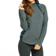 Carve Designs Noir Hoodie (For Women) in Evergreen Paris Stripe - Closeouts
