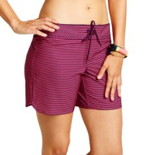 Carve Designs Noosa Surf Shorts - UPF 50 (For Women) in Plum Tides - Closeouts