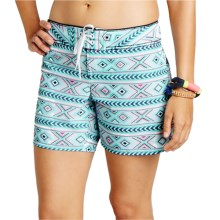 Carve Designs Noosa Surf Shorts - UPF 50 (For Women) in Pool Bali - Closeouts