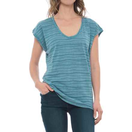 Carve Designs Oregon V-Neck Shirt - Organic Cotton Blend, Short Sleeve (For Women) in Harbor - Closeouts