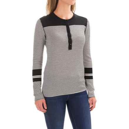 Carve Designs Pagosa Sweater - Merino Wool (For Women) in Black Stripe - Closeouts