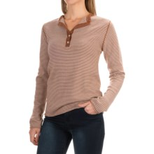 Carve Designs Pagosa Sweater - Merino Wool (For Women) in Sienna/Birch Stripe - Closeouts